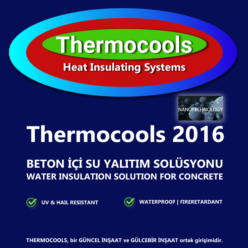 thermocools 2016 beton içi su yalıtım solüsyonu